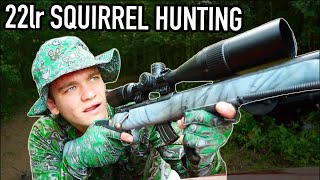 Squirrel Hunting with 22LR! (Catch and Cook)