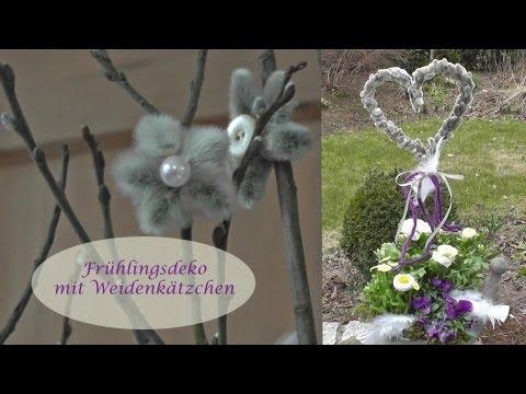 Frühlingsdeko mit Weidenkätzchen - Kreativ und schick