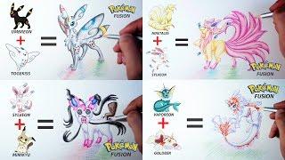 Leafeon  - (Pokémon) - EEVEELUTIONS   Pokemon Fusion Drawing #1
