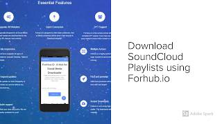 How to Download SoundCloud Playlists Online using Forhub.io