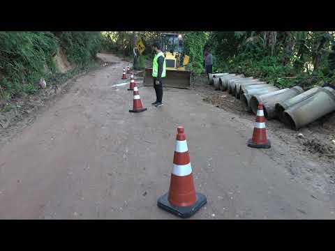 Sabesp faz obra na Spa 070/230 Estrada Velha de Juquitiba