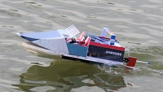 How to make a Boat - Simple RC boat