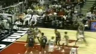 Bulls vs Rockets. Jordan 45pts Barkley 35 (Thrash talk game)