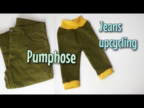 Pumphose aus alter Jeans - Nähanleitung OHNE Schnittmuster - Für Anfänger - Nähtinchen