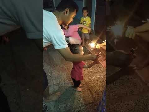 Main kembang api di malam lebaran Juni 2019 #04062019