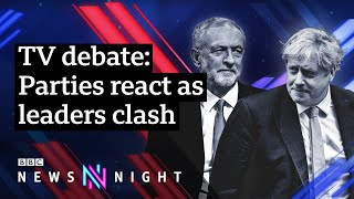 Johnson V Corbyn election debate: Who won? Parties react - BBC Newsnight