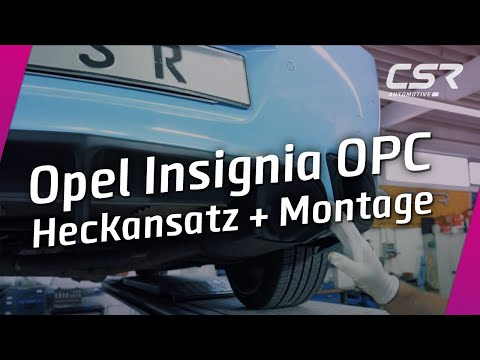 Montagevideo: Heckansatz für Opel Insignia OPC
