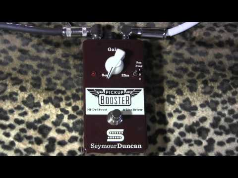 Seymour Duncan PICKUP BOOSTER guitar pedal demo with MJT Strat