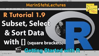 Subsetting (Sort/Select) Data in R with Square Brackets | R Tutorial 1.9| MarinStatsLectures