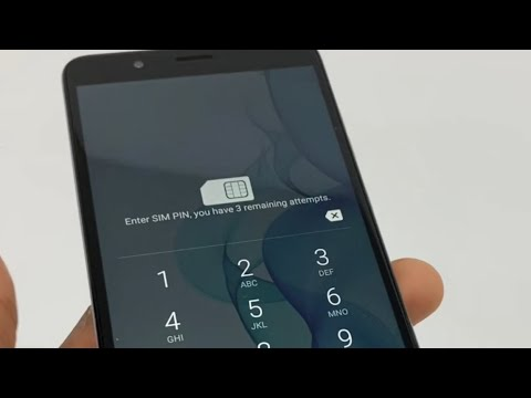 How to unlock SIM card Locked by pin code