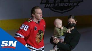 Blackhawks Honour Patrick Kane's 1000th NHL Game In Front Of Fans