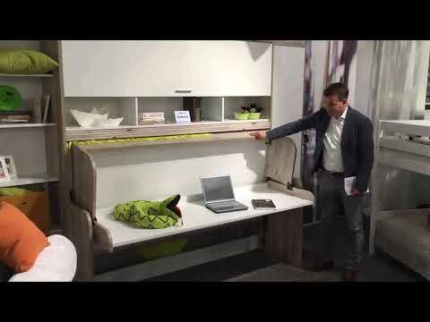 Bett und Schreibtisch in einem Möbelstück: Funktionsbett Dakota