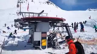 Жесть в Грузии на горнолыжке