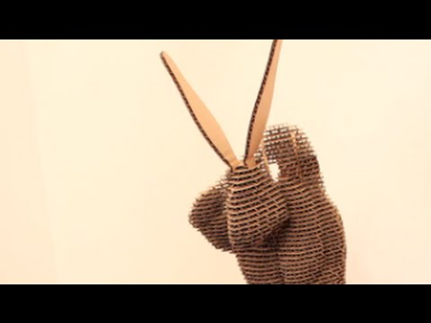 Rabbit sculpts a self portrait