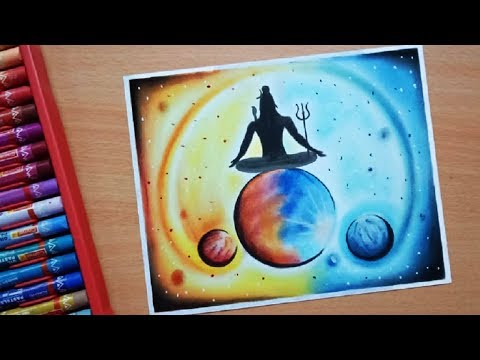 How to draw Maha Shivaratri | how to draw Lord shiva | Maha