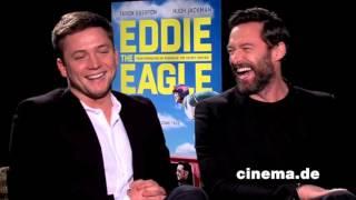Eddie the Eagle // Taron Egerton und Hugh Jackman // Interview // CINEMA-Redaktion