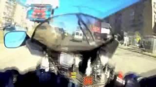 Смотреть онлайн Жестокое ДТП с участием мощного мотоцикла
