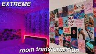EXTREME ROOM MAKEOVER + TRANSFORMATION *aesthetic vsco/pinterest inspired bedroom