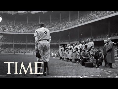 Babe Ruth končí kariéru - Slavné fotografie