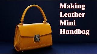 19 [가죽공예] 미니 핸드백 만들기 Ver2 / [Leather Craft] Making Mini Handbag Ver2 / Free Pattern