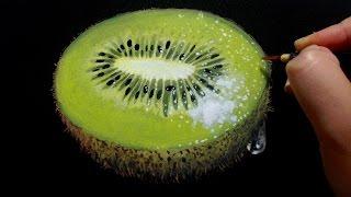 キウイフルーツを描くPaintingofkiwifruit