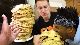 EATING 100 PANCAKES CHALLENGE!