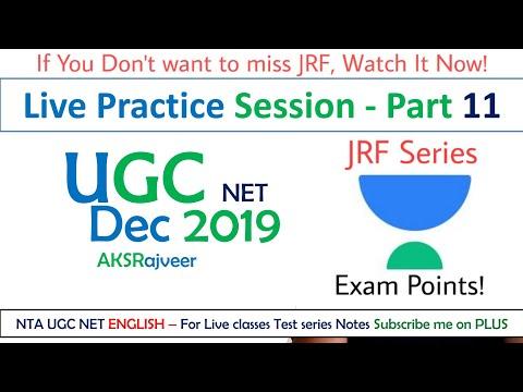 UGC NET English December 2019 Practice Test Series-11 - YouTube