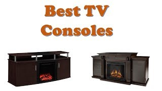 TV Consoles: 10 Best TV Consoles With Fireplace 2020