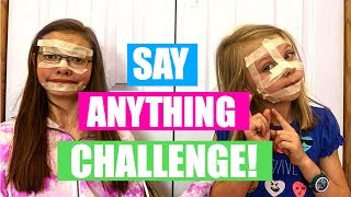 SAY ANYTHING CHALLENGE! With Angela! | My Life Fast Forward