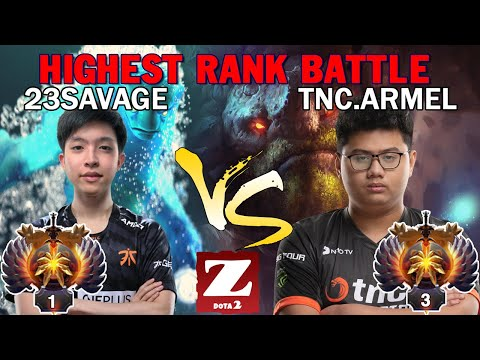 23SAVAGE Morphling vs TNC.ARMEL Tiny - EPIC BATTLE Between RANK 1 vs RANK 3 GAME DOTA 2