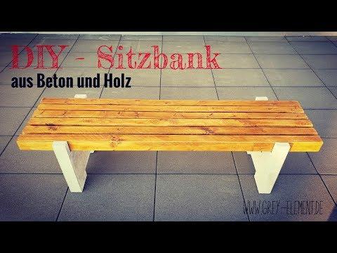 DIY / Eine Sitzbank aus Holz und Beton selber bauen