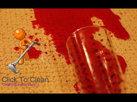 How to remove Kool Aid dye stains from a carpet
