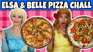 Elsa vs Belle Pizza Challenge. Who Gets the Surprise Ingredients? We Play Dress Up. Totally TV