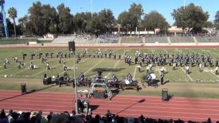 preview picture of video 'Tulare Western Mustang Band and Colorguard - Field Show - Visalia Band Review - 10-25-14'