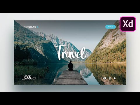 Adobe Xd Web Design - How to design a simple website in Adobe Xd for beginners (2020)