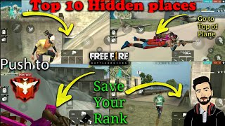 New Top 10 Hiding / Hidden Places In Bermuda Map Garena Free Fire By DEATH RAIDER GAMING