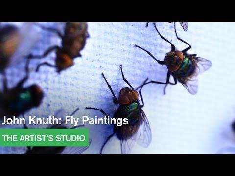 יצירות אומנות שצוירו על ידי זבובים