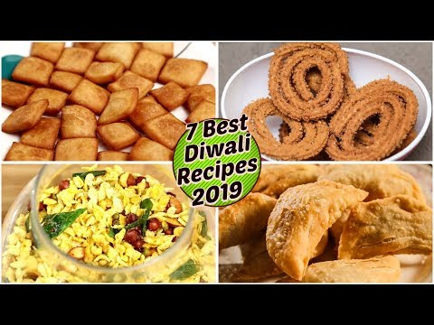 Diwali Farsan Recipes | Diwali Faral | Mithai | Karanji, Shakarpara, Chakli, Besan Ladoo, Chivda