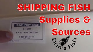 Fish Shipping Supplies And Sources