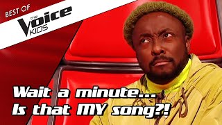 TOP 10 | Incredible Blind Auditions with COACH SONGS in The Voice Kids