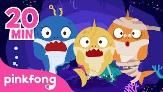 Zombie Sharks Doo Doo Doo!   Halloween Songs   +Compilation   Pinkfong Songs for Children
