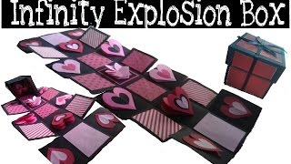 DIY - Infinity Explosion Box | How to Make Explosion Box|Valentine's Day Gift Idea|