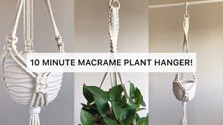 DIY MACRAME PLANT HANGER | 10 MINUTE PLANT HANGER | EASY MACRAME PLANT HANGER #1