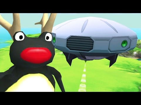 PENGUIN FROG WITH ANTLERS FINDS A UFO - Amazing Frog Christmas Update Beta - Part 78 | Pungence
