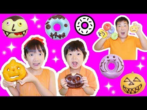 ★ハロウィンのドーナツ屋さん「ニセモノを見破れ!」★Halloween donut shop★