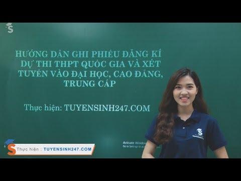 Hướng dẫn làm hồ sơ Đăng ký dự thi THPTQG 2019 và xét tuyển ĐH, CĐ năm 2019