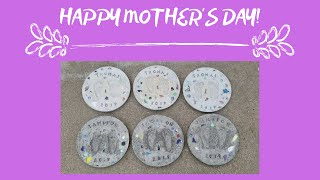 Garden Stepping Stone Footprint Keepsake | DIY Project | Mothers Day Gift Idea