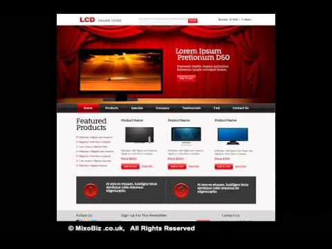Online store related web design samples ( MixoBiz )