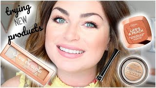 TRYING OUT NEW DRUGSTORE MAKEUP! GET READY WITH ME