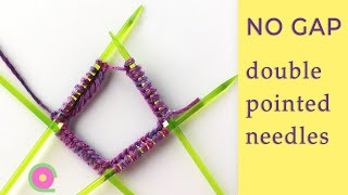 How to join stitches after casting on on double pointed needles